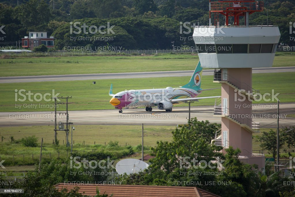 Air Control Tower Of Chiangmai International Airport Stock Photo