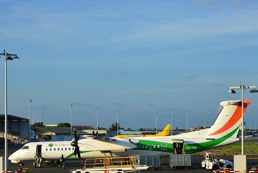 Air Côte d'Ivoire Bombardier Dash 8 400 at Abidjan Airport - Félix-Houphouët-Boigny International Airport, Abidjan, Ivory Coast