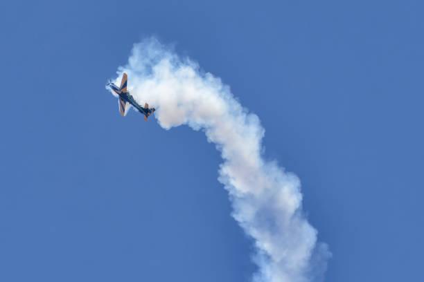 Esquadrão de demonstração do ar (Português: Esquadrilha da Fumaça) da força aérea brasileira - foto de acervo