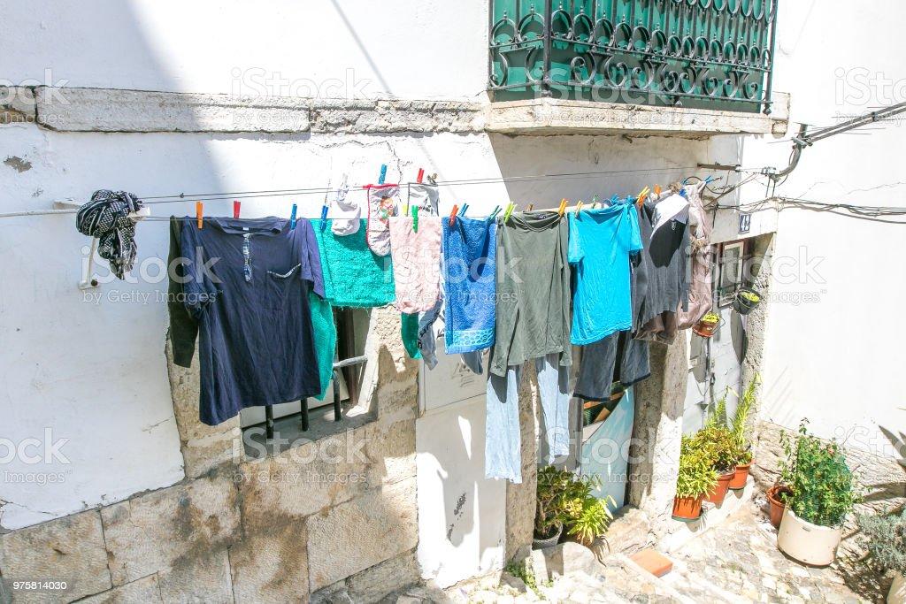 Luft trocknen von Kleidung - Lizenzfrei Ausgedörrt Stock-Foto