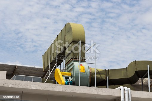 istock Air duct and ventilation system 858885148