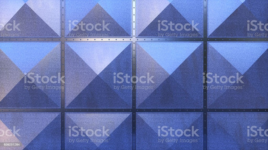 Air Duct Industry Plates Frontal Composition stock photo