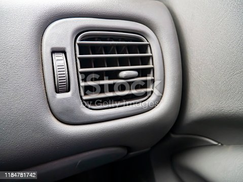 istock Air duct of the car from the inside. 1184781742