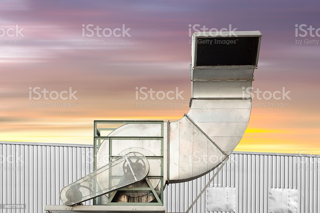 Air duct stock photo