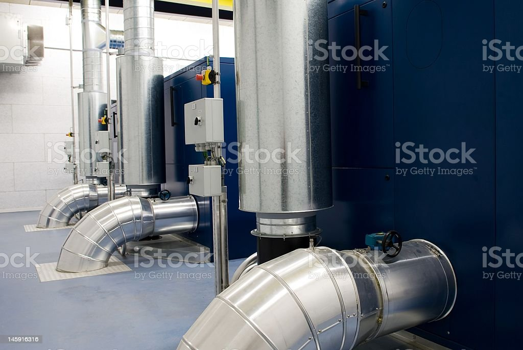 Air ducts for blower equipment royalty-free stock photo