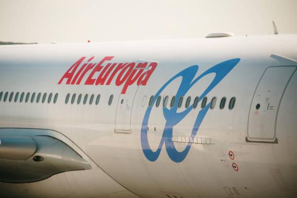 Air Europa Logo Detail stock photo