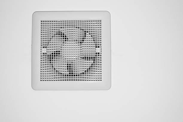 Air exhauster aislado sobre fondo blanco - foto de stock