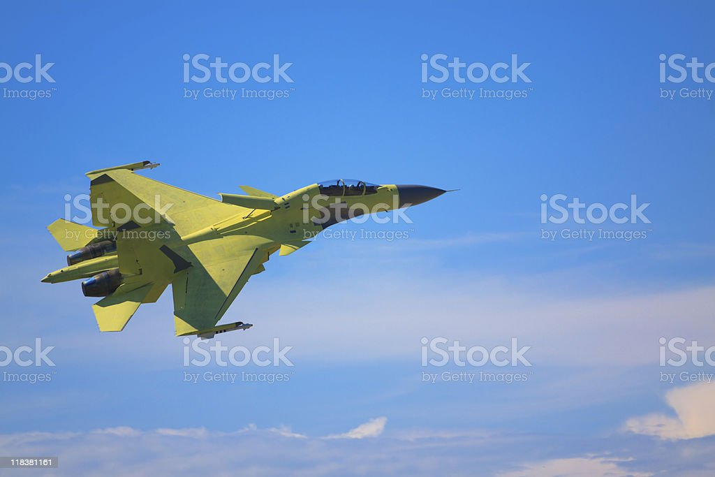 Air fighter with TVC stock photo