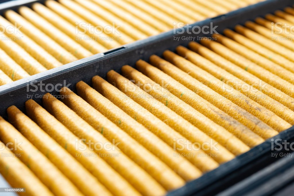 air filter for a car stock photo