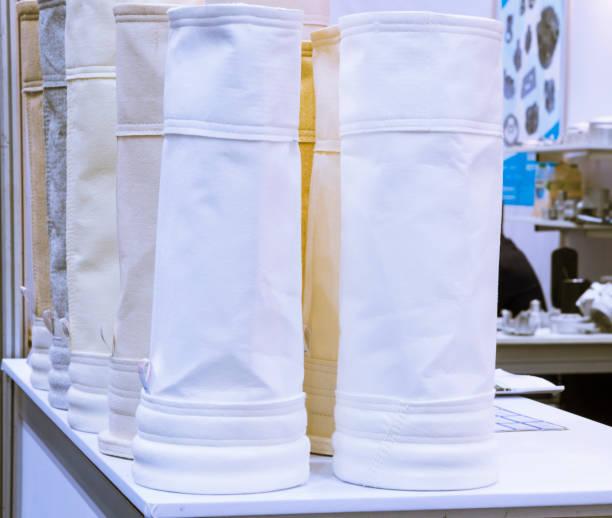 filtro de aire para el sistema de colector de polvo; Bolsa de filtro de piezas de repuesto es para recoger partículas pequeñas - foto de stock