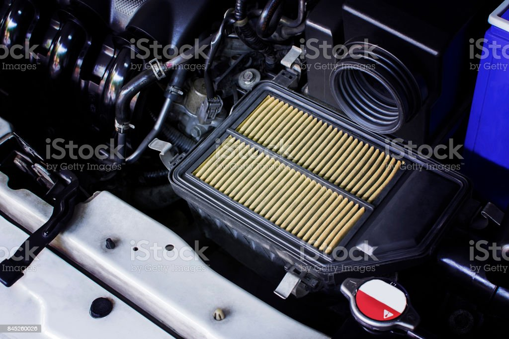 Air filter in a car. stock photo