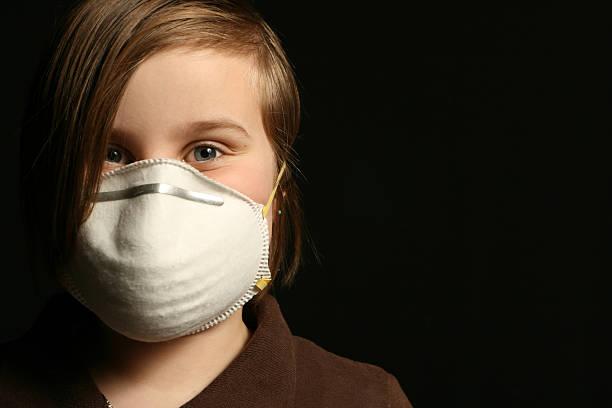 Air filter mask stock photo