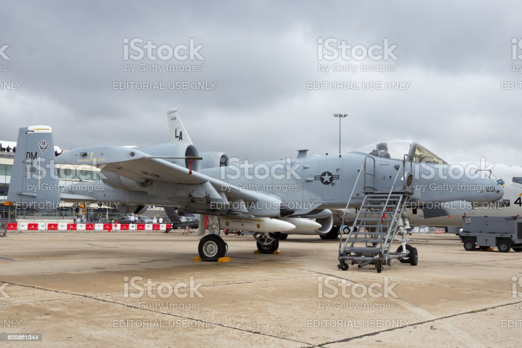 US Air Force A-10A Warthog combat plane stock photo