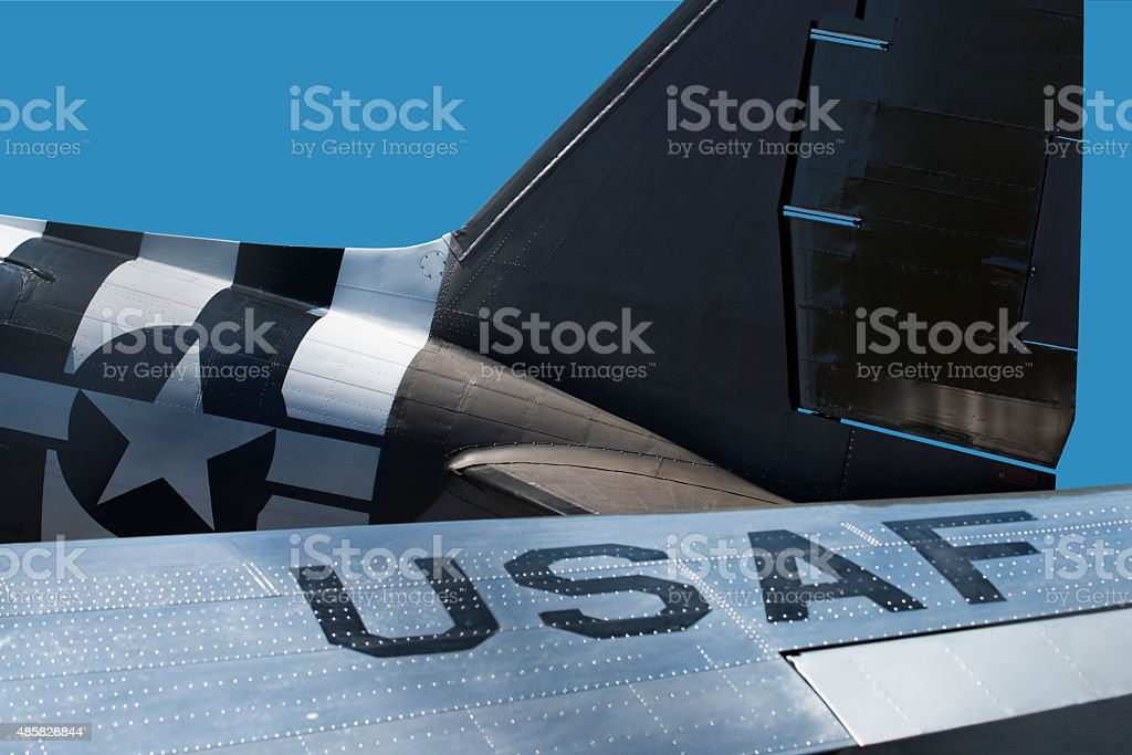 US Air Force Airplane C-47 in World War 2 stock photo