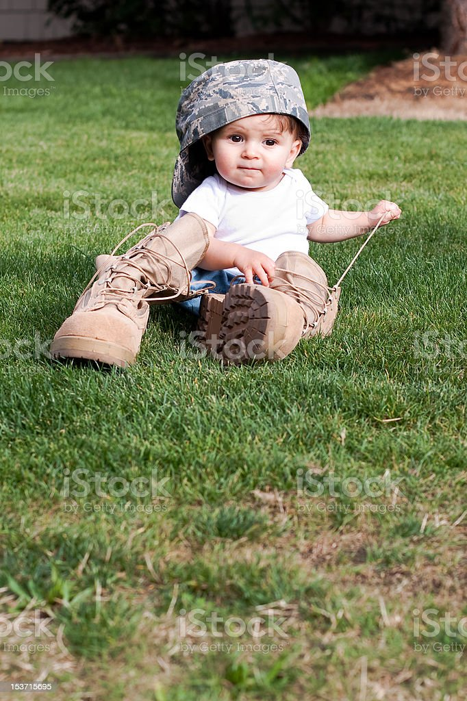 Air Force Child stock photo
