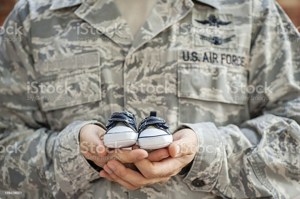 Air Force Dad stock photo