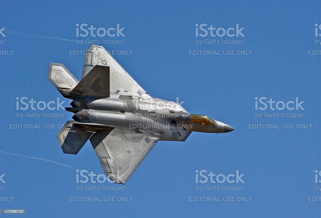 US Air Force F-22 Raptor Tactical Fighter Aircraft stock photo