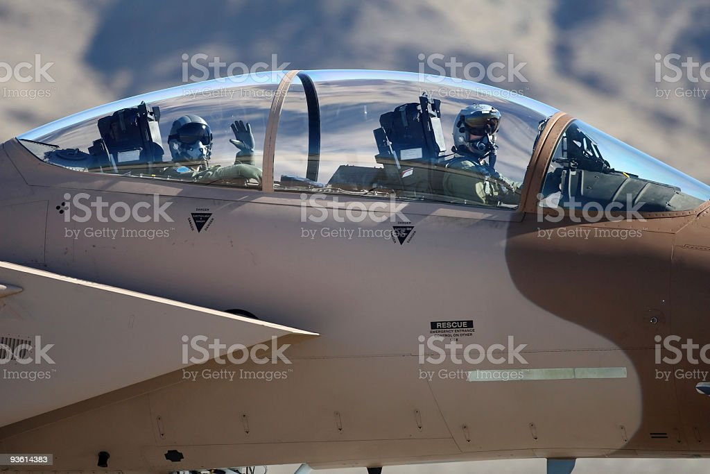 Air Force Fighter Pilots stock photo