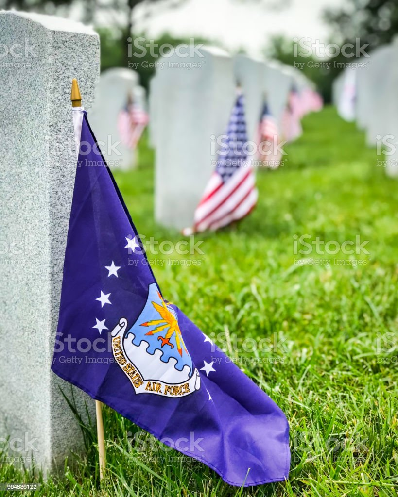 Air Force Flag royalty-free stock photo