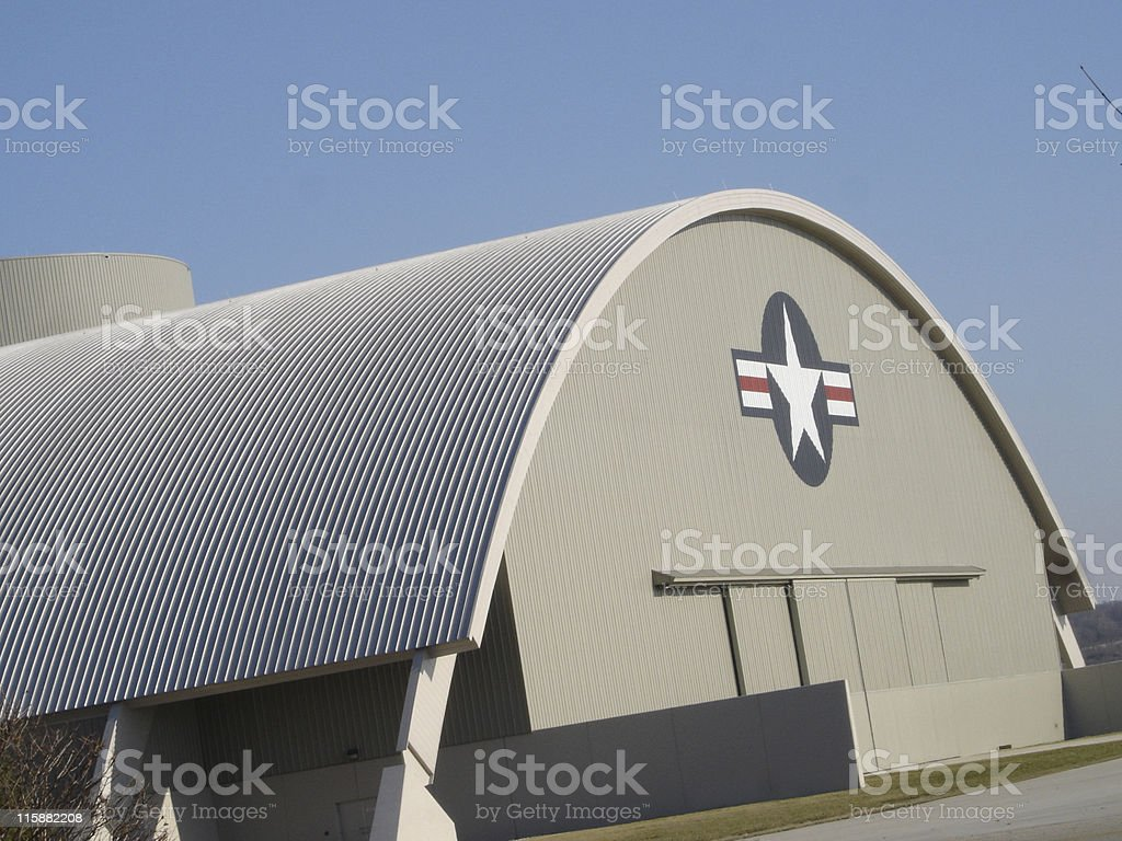Air Force Hanger stock photo