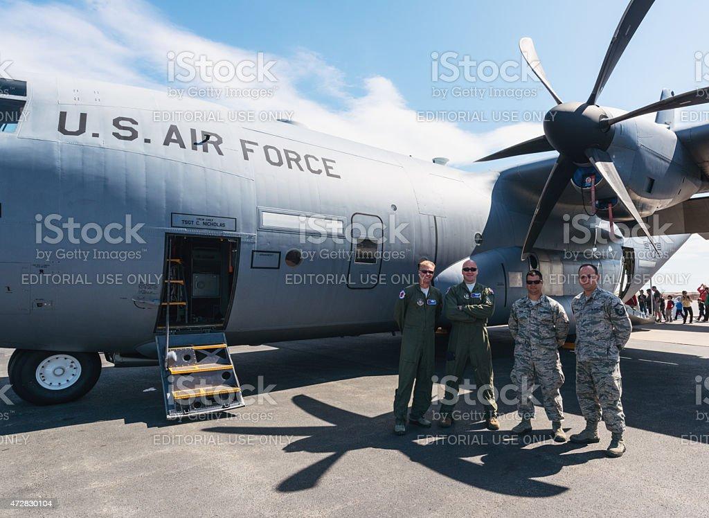 U.S. Air Force Hurricane Hunters stock photo