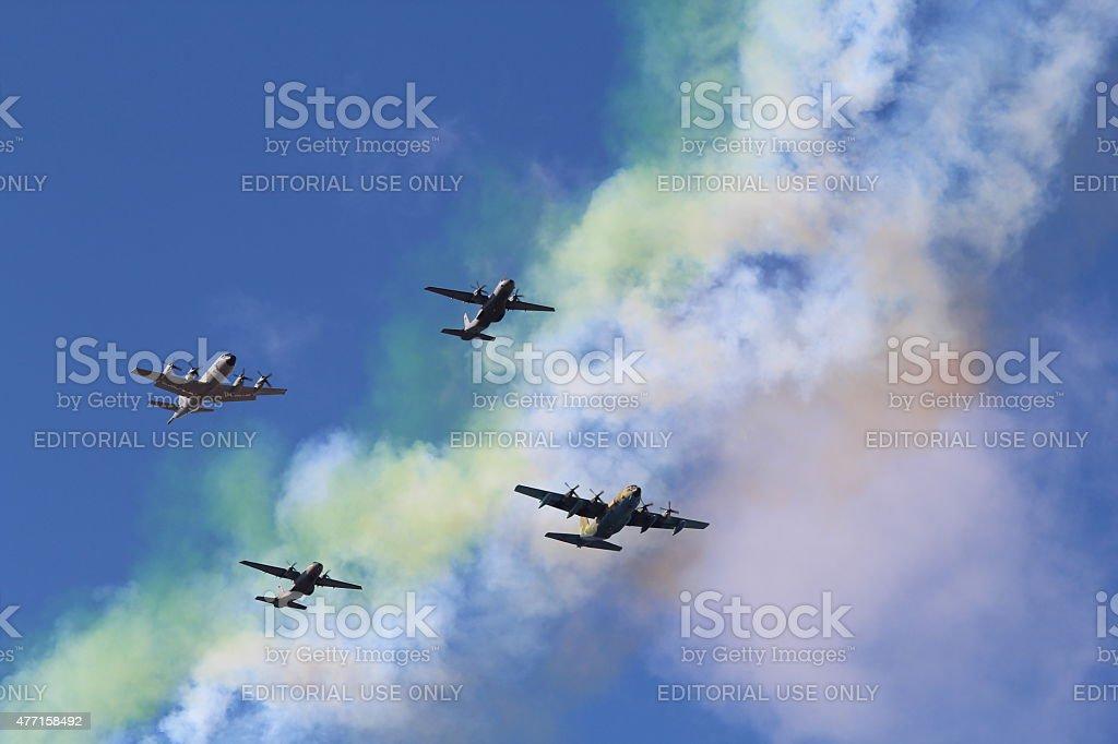 Air Force on Hispanic Day stock photo
