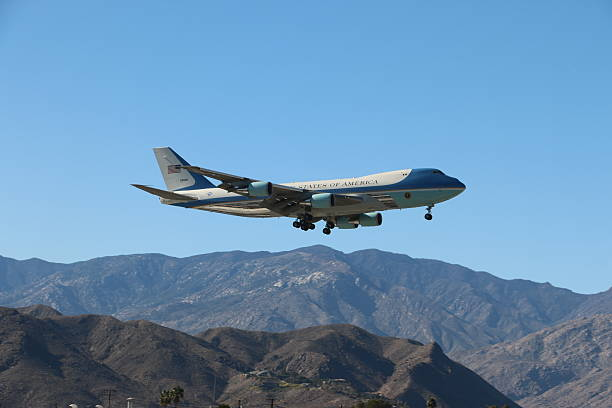 Air Force One - Palm Springs, California stock photo