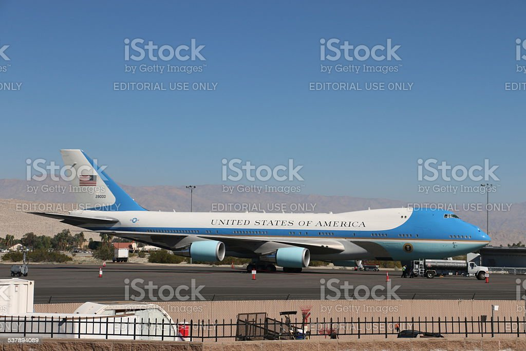 Air Force One - Resting in Palm Springs stock photo