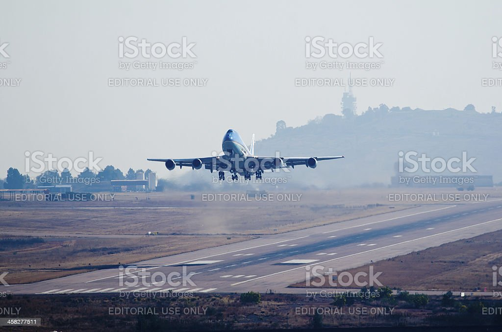 Air Force One takeoff stock photo