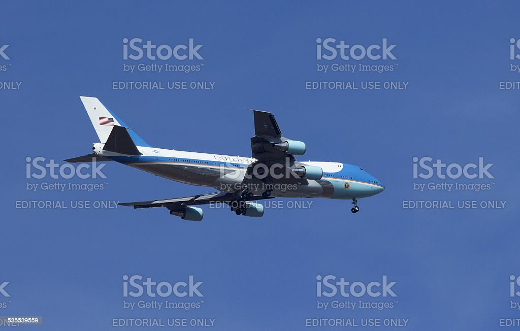 Air Force One - The President's Airplane stock photo
