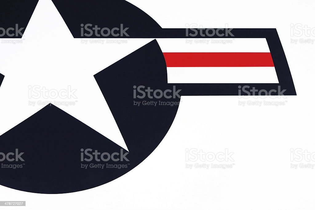 Air Force One USA Insignia Star Stripes stock photo