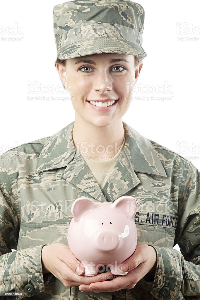 US Air Force Series: American Airwoman royalty-free stock photo