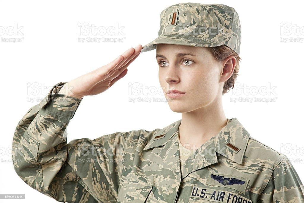 US Air Force Series: American Airwoman stock photo