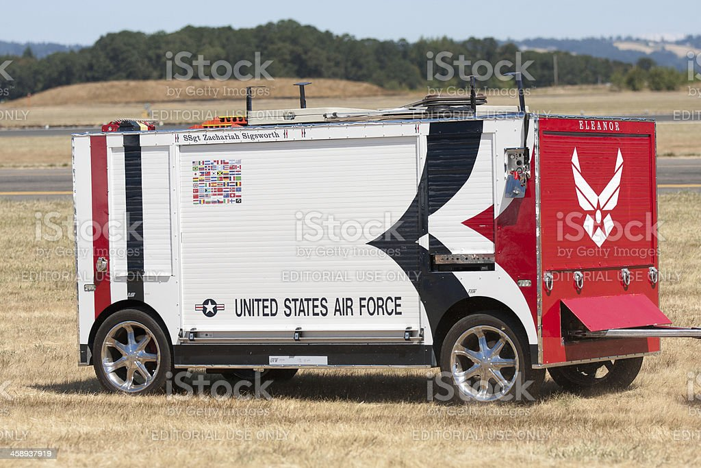 US Air Force T-Birds Command Center royalty-free stock photo