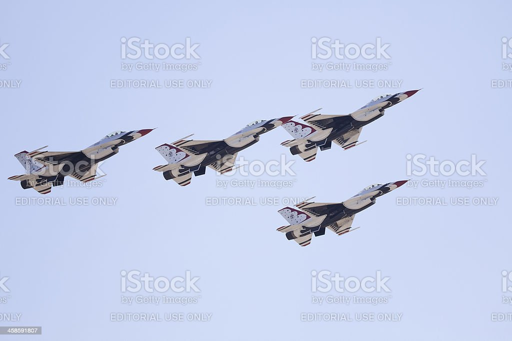 US Air Force Thunderbirds jets royalty-free stock photo