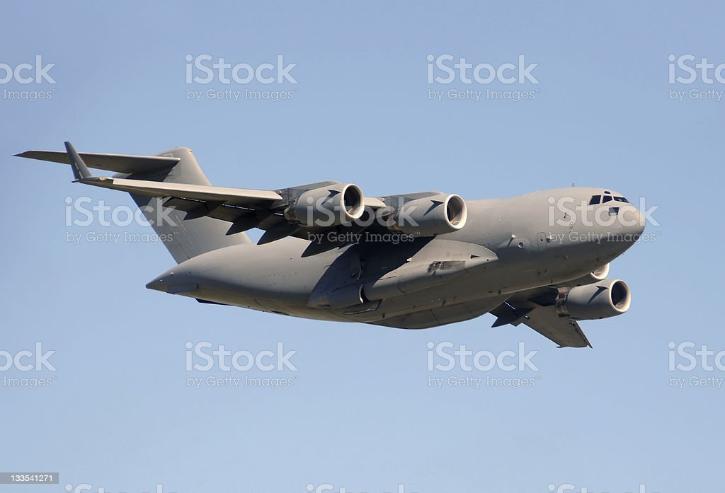 US Air Force transport airplane stock photo