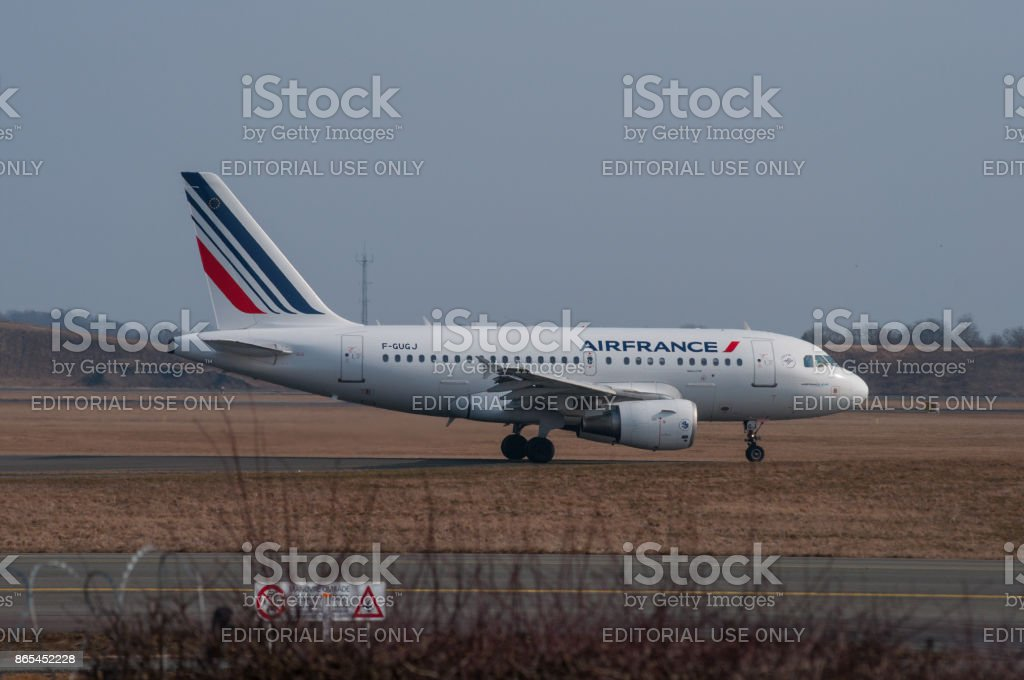 Copenhagen - April 2013: Air France Airbus A318 airplane stock photo