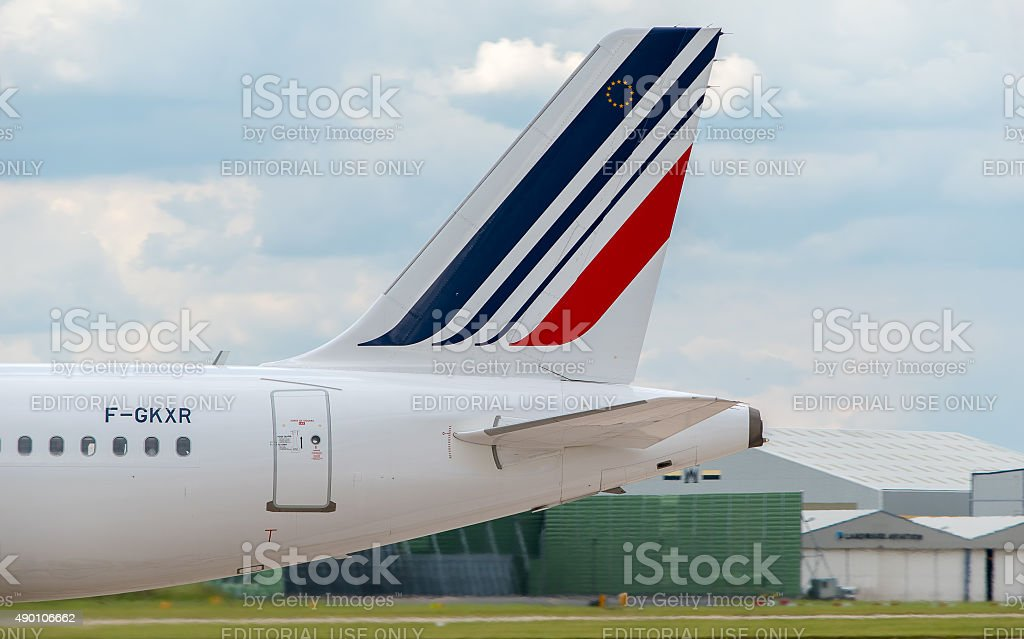 Air France Airbus A320 tail stock photo