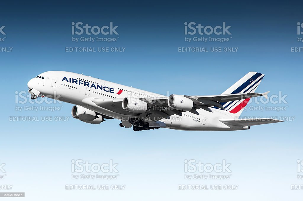 Air France Airbus A380 stock photo