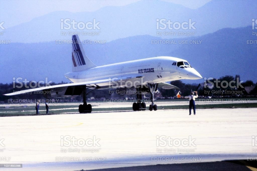 Concorde d'Air France à Klagenfurt 1984 - Photo