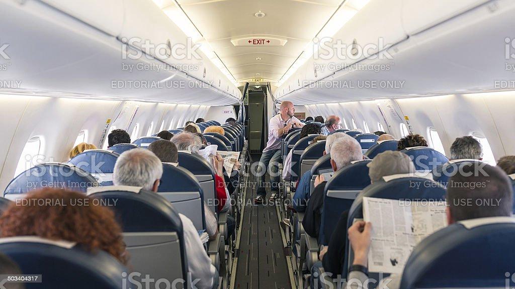 Air France Jet avion vue sur l'intérieur. - Photo