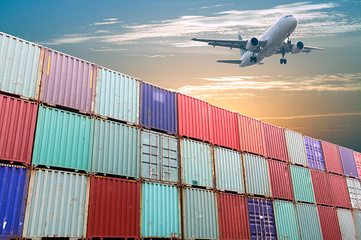 Air transport and container depot