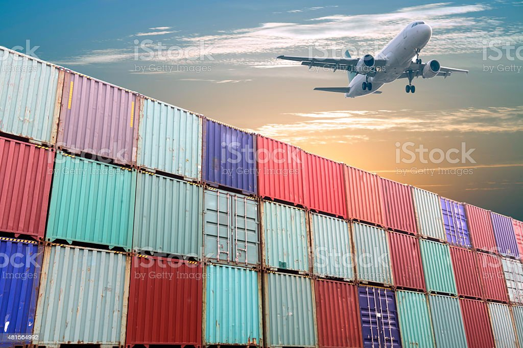 Air freight stock photo