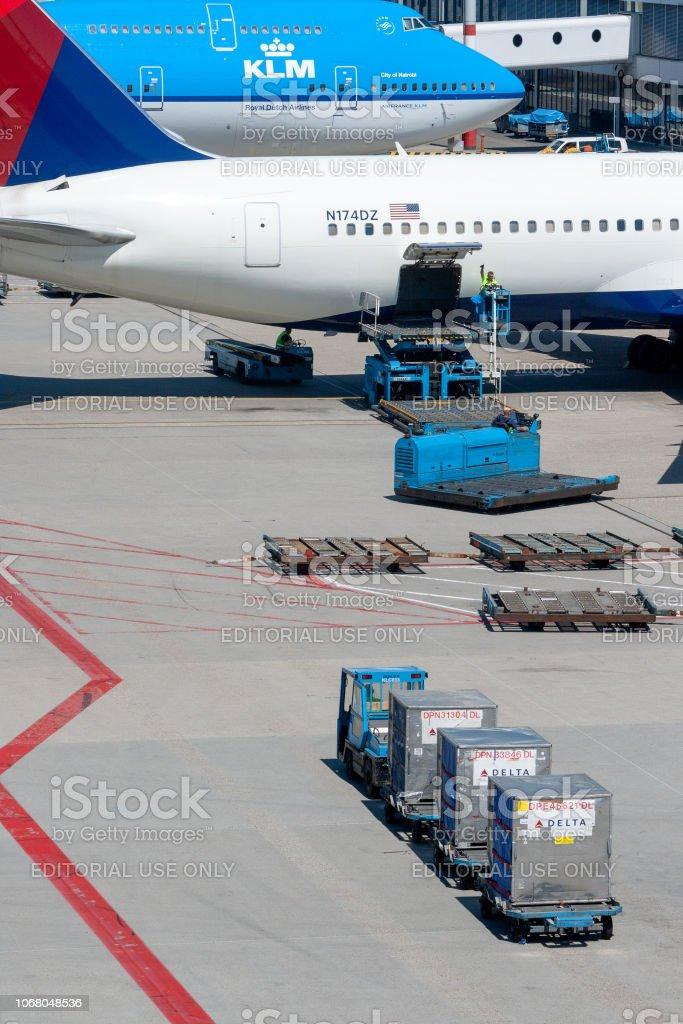 Air Freight platform airport stock photo