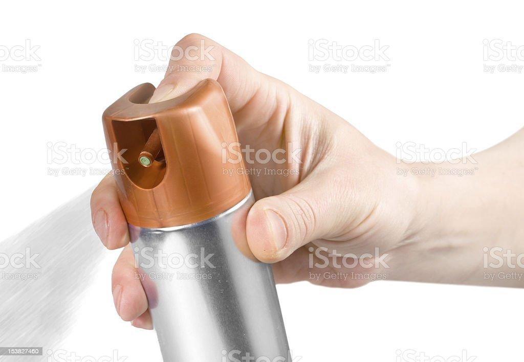 Air freshener spray stock photo