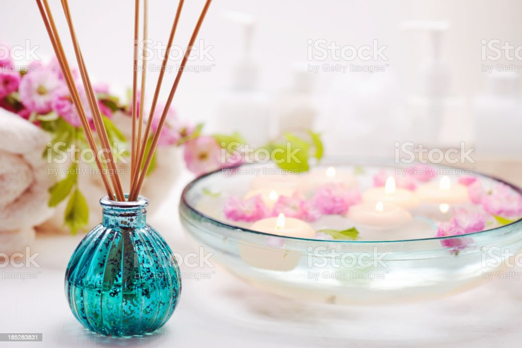 Air Freshener with spa items stock photo
