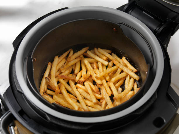 Air Fried, Crispy French Fries stock photo