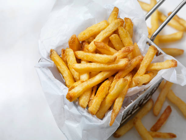 Air Fried, Crispy French Fries Air Fried, Crispy French Fries fried potato stock pictures, royalty-free photos & images