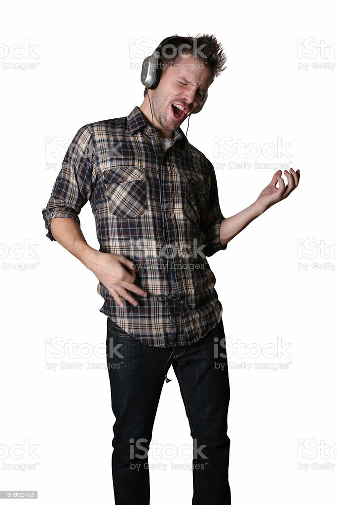 Air guitar is so fun royalty free stockfoto