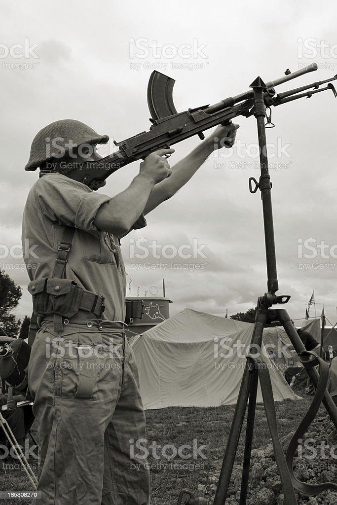 Air Gunner. stock photo